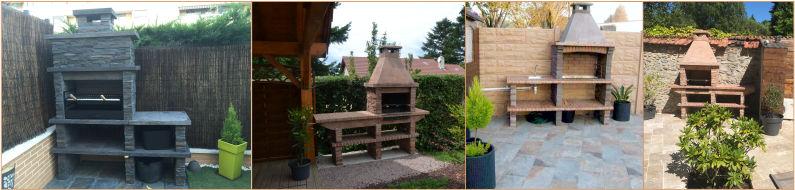 my barbecue barbecue fixe en pierre reconstitu e avec vier. Black Bedroom Furniture Sets. Home Design Ideas