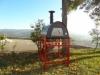 Picture of Four a Bois Maximus Noir avec Chariot Welt Rouge