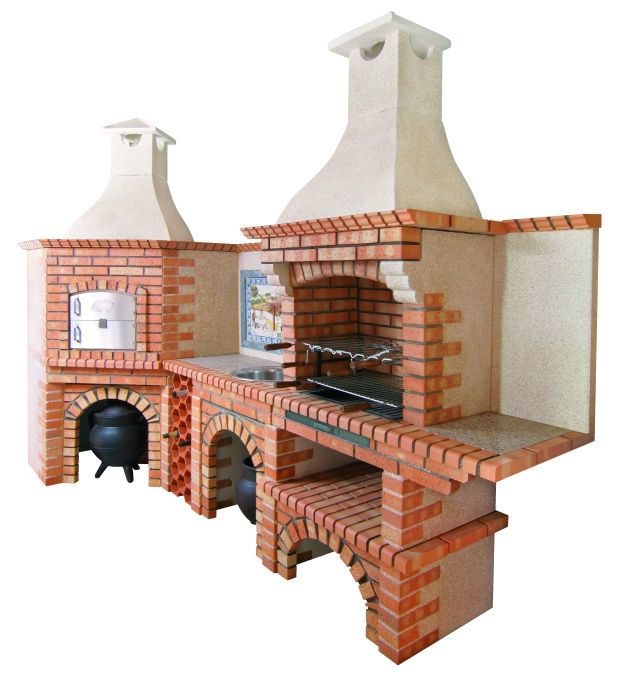 four pizza d 39 angle avec barbecue ce1008b my barbecue. Black Bedroom Furniture Sets. Home Design Ideas