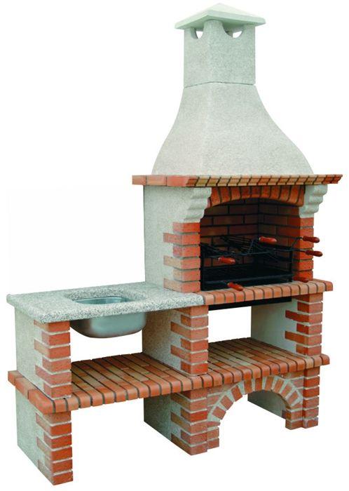 barbecue en brique de jardin avec évier ce3050fmy barbecue