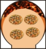 Picture of Four a pizza et pain bois BUENAVENTURA Rouge 90 cm